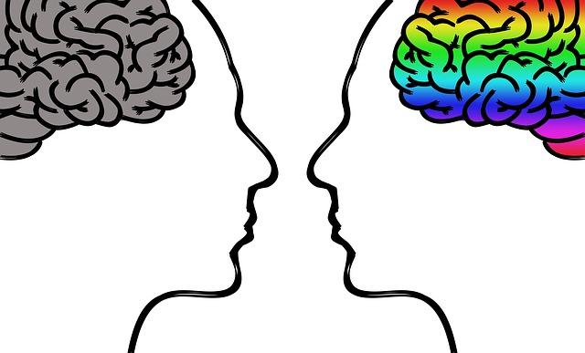 siluety s mozkem