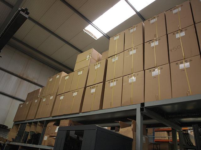 Skladování zásilek ve skladu