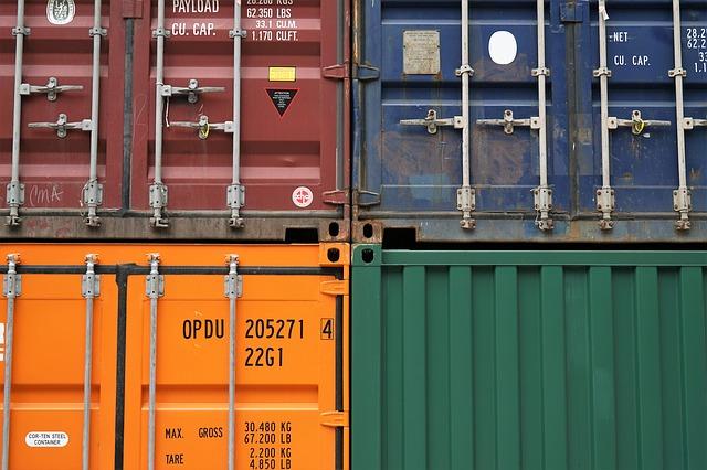 kontejnery na převážení zboží
